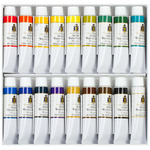 Turner Concentrated Artists' Watercolors- Professional Set Set of 18 15ml Tubes - Assorted Colors
