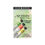 Daler-Rowney Artists' Water Colour Set of 3 5ml Tubes - Landscape Colors