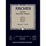 "Arches Drawing Paper Pad 123 lb. 9x12"" - Dessin Cream"