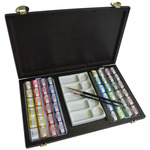 LUKAS Aquarell 1862 Watercolor 150th Anniversary Wood Box Set of 70 Half Pans