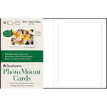 "Strathmore Photo Mount Cards 50 Pack 5x6-7/8"" - White - Classic Embossed"