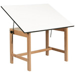 Titan Solid Oak Drafting And Drawing Tables