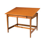 "ALVIN Drafting Table Vanguard Table 36x48x33"" - Golden Oak"