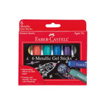 Faber-Castell Metallic Gel Sticks Set of 6