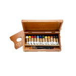 Charvin Extra Fine Oil Color Wooden Box Set of 12 20 ml Tubes - Assorted Colors