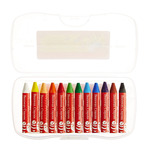 Faber-Castell Beeswax Crayons 12 Pack - Assorted Brilliant Colors