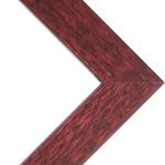 "Denver .75  Wood Frame with acrylic glazing and cardboard backing 18x24"" - Mahogany"