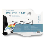 "11x16"" White Paper Disposable Handheld Palette Pad"