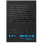 Stonehenge Aqua ColdPress Black Heavy 10X14 300lb (10-Sheet) Block