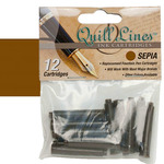 Quill Lines Replacement Cartridge 12-Pack - Sepia