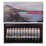 12 Shades of Grey Oil Colors Set of 12, 21ml Tubes