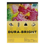 Grafix .010 Dura-Bright Pad Opaque White 9X12 12-Sheet