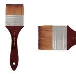 Mimik Synthetic Kolinsky Brush Short Handle 2.5in Watercolor Mottler