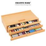 Creative Mark 3 Drawer Wood Storage Box