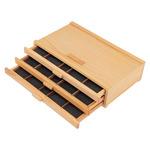 3 Drawer Wood Art Supply Storage Box