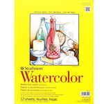 "Strathmore 300 Series 140lb Watercolor Pad 11x15"" Wire bound 12 Sheets"
