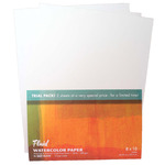 Try-It 3Pk Fluid Watercolor Paper 140lb Cold Press 8X10
