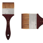 Mimik Synthetic Kolinsky Brush Short Handle 3in Watercolor Mottler
