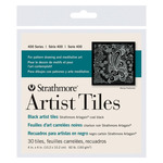 Strathmore Artist Tiles 400 Series Artist Tiles 4x4 In 30pk - Coal Black