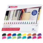 Edding 55 Fineliner Tin Set of 16 Assorted Colors