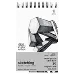 Winsor & Newton Sketching Spiral Pad 50 lb (50-Sheets) 5.5x8.5