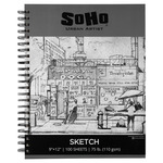 SoHo 110 GSM Sketch Paper Pad Spiral 9x12 in 100-Sheets