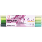 Kuretake Zig Brushable Marker Set of 4 Greens