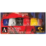 Grumbacher Academy Acrylics Introductory Set of 6 - 90ml Tubes