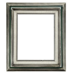 """Accent Wood Frame 11x14"""" Silver Green"""