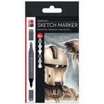Marabu Graphix Sketch Marker Alpha Robot (Greys) Set of 6