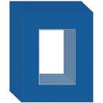 Ambiance 10-Pack Mat Board 24X30 \Pic Size 19X25 True Blue