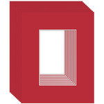 Ambiance 10-Pack Mat Board 24X30 \Pic Size 19X25 True Red