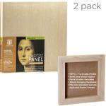 2-Pack Ampersand Artist Panels Birch Wood 7/8in Cradle 12X12