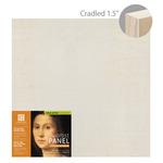 "Ampersand Value Series Unprimed Basswood Panel 1-1/2"" Cradle 18x18"""