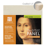 "Ampersand Value Series Unprimed Basswood Panel 1-1/2"" Cradle 4x4"""