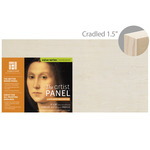 "Ampersand Value Series Unprimed Basswood Panel 1-1/2"" Cradle 8x16"""