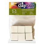Ampersand Claybord Art Tile 1/8 in Flat 1 x 1 Pack Of 24