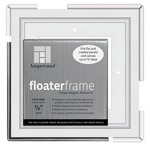 Ampersand Bold Floater Frame 6X6 For 7/8in Profile - White