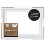 Ampersand Bold Floater Frame 9X12 For 7/8in Profile - White