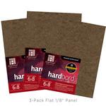 "Ampersand Hardbord  1/8"" Flat Panel (3-Pack) 6x8"""