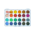 Angora Opaque Watercolor 24 Pan Multi-Color Set - Assorted Colors