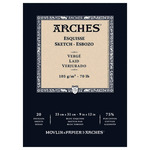 "Arches 9x12"" Sketch Paper Pad 70 lb Laid Finish 20 Sheets"