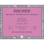 "Arches Watercolor Block 140 lb. 20 Sheets Hot Press 11X14"" - Natural White"