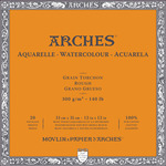 "Arches Watercolor Block 140 lb. 20 Sheets Rough 12X12"" - Natural White"