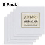 ArtBites Canvas Textured Boards 5-pack 5x5""