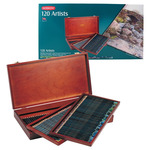 Derwent Artists Colored Pencils Wood Box Set of 120
