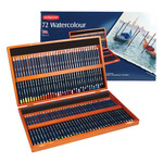 Derwent Watercolor Pencil Wood Box Set of 72 - Assorted Colors