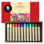 Mungyo Water Soluble Oil 6Pack Pastel Sets Of 12 Colors