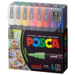 Posca Acrylic Paint Marker 0.9-1.3mm Fine Tip Basic Colors Set of 16