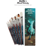 Berlin & Mimik Kolinsky Short Handle Mixed Brush Set